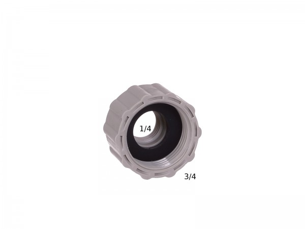 Anschluss Adapter 1/4 Zoll auf 3/4 Zoll Innengewinde Bild 1