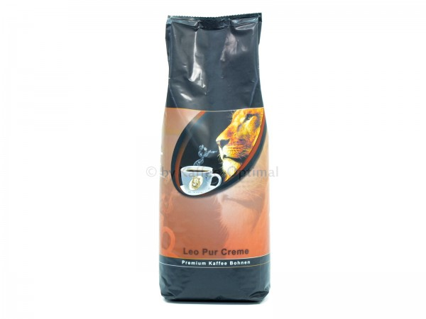 leo pur creme kaffee 1000g ganze bohnen