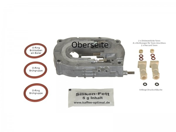 Boiler Thermoblock inkl. Raccords 5mm passend für DeLonghi ESAM