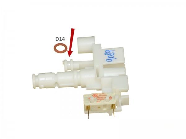 O-Ring D14 aus Dichtungsset Kupplung zur Karaffe EAM und ESAM Bild 1